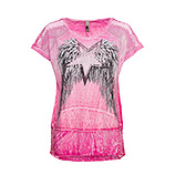 Shirt mit Flügelprint, pink glow
