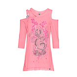 Shirt mit Cut-Outs, neon lobster
