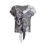 Shirt im rockigen Design, schwarz-weiß