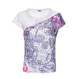 Print-Shirt mit Netz, lilac