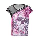 Print-Shirt mit Netz, pink glow