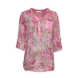 Bluse im Alloverprint, pink glow