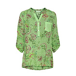 Bluse im Alloverprint, green glow