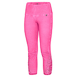 Baumwoll-Leggings mit Applikation, pink glow