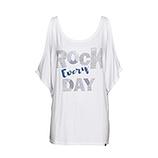 Oversize Shirt mit Ziersteinen, weiß