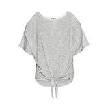 COSY Shirt mit Häkelspitze, grau meliert