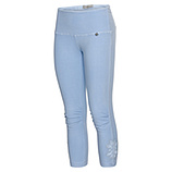 Baumwoll-Leggings mit Applikation, eiskristall