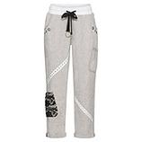 Cargo-Hose Baumwolle/Leinen, grau