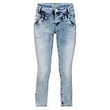 Jeans mit Schmetterling, bleached