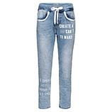 Schlupf-Jeans mit Ziersteinen, light blue denim