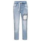Schlupf-Jeans mit Stickerei, light blue denim