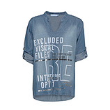 Bluse mit Print, bleached denim
