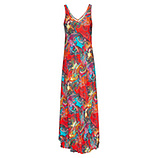 Maxi-Kleid im Alloverprint, sorbet