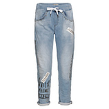 Schlupf-Jeans, bleached denim