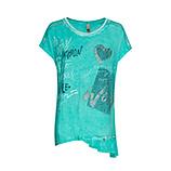 Shirt mit Volants, ocean