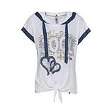 Shirt mit Front-Design, weiß/ denim