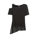 COSY Shirt mit Lurex, schwarz