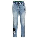 Schlupf-Jeans mit Ketten 66cm, light denim