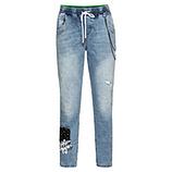 Schlupf-Jeans mit Ketten 66cm, bleached