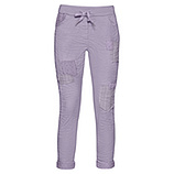 ONLINE EXKLUSIV: COSY Hose mit Patches, lilac