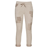 COSY Hose mit Patches, stein