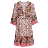 Kleid im Paisley-Print, rosenholz
