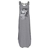 Maxi-Kleid mit Streifen, schwarz-weiß