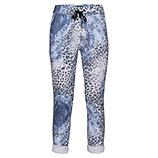 COSY Hose im Animal-Print, weiß-blau