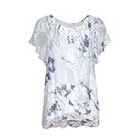 Bluse im Floral-Print, weiß-blau