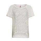 Shirt mit Netz-Optik, sand