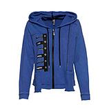 COSY Sweatjacke mit Zierbändern, blue glow