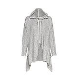 Shirtjacke mit Flügel-Design, grau-melange