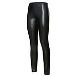 Leggings im Veggie-Glanzleder-Optik, schwarz