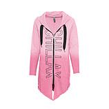 COSY Sweat-Jacke mit Ziersteinen, pink glow