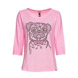 Shirt 'Mops', pink glow