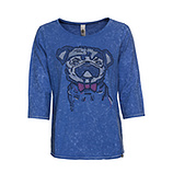Shirt 'Mops', blue glow