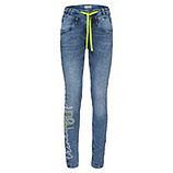 Sweat-Jeans mit Neon 80cm, light blue denim