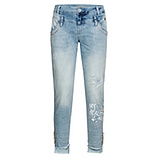 Jeans mit Glitzersteinchen 72cm, light blue denim