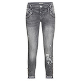Jeans mit Glitzersteinchen 72cm, light grey