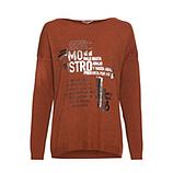 Strickshirt mit metallic-Print, outback