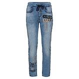 Schlupf-Jeans mit Ziersteinen 70cm, light blue