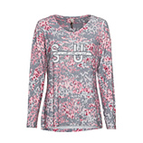 Shirt 'Soul', grau-rose