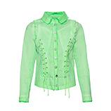 Jeansjacke mit Kreuzschnürung, green glow