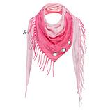 Schal mit Fransen, pink glow