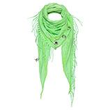 Schal mit Fransen, green glow