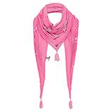 Schal mit Stern, pink glow