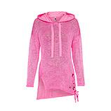 Strickpullover mit Schnürung, pink glow