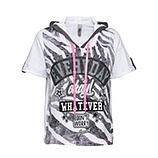 Shirt mit Lurex, schwarz- weiß