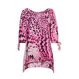 Shirt im Animal-Print, pink glow