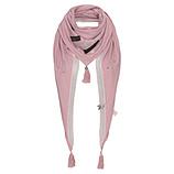 Schal mit ZIersteinen, pink salt
